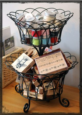 Rubber-stamp-basket