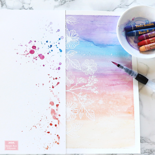 4-VBDT-sunset-layout-watercolor-mixed-media-splatters