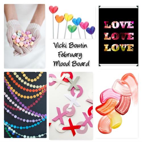 Vicki Boutin February Mood Board